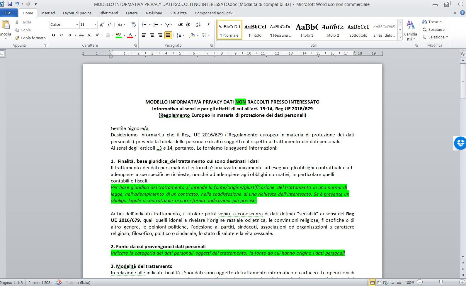 Pubblicato Kit Documentazione Gdpr Privacy Europea 20